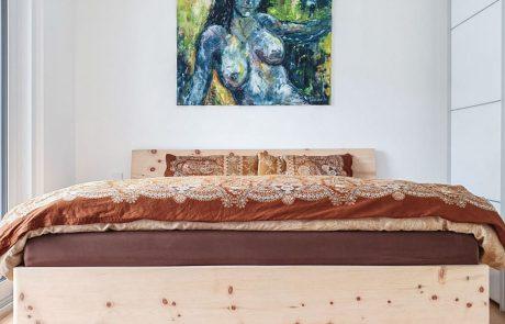 Bett ohne Füße für einen frei schwebenden Look Naturbett