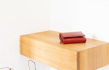 freischwebende Schublade Holzschublade Ablage für Garderobe